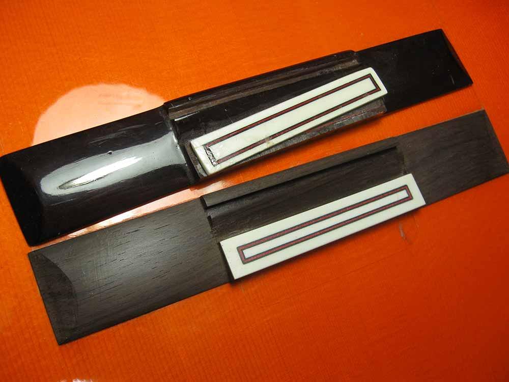puente guitarra reparacion fernando moreno luthier sevilla